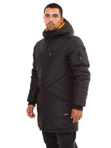 FOOTWORK DEALER PARKA BLACK SIDE